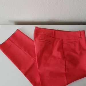 Red Ankle Dress Pants.